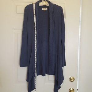 Sonoma long open sweater jacket.